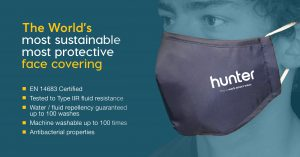 Hunter Ultra - EN14683 certified Face Cover Type IIR Tested 100 washes